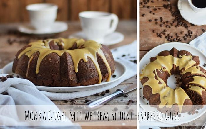 Mokka Gugel mit weißem Schoki-Espresso Guss