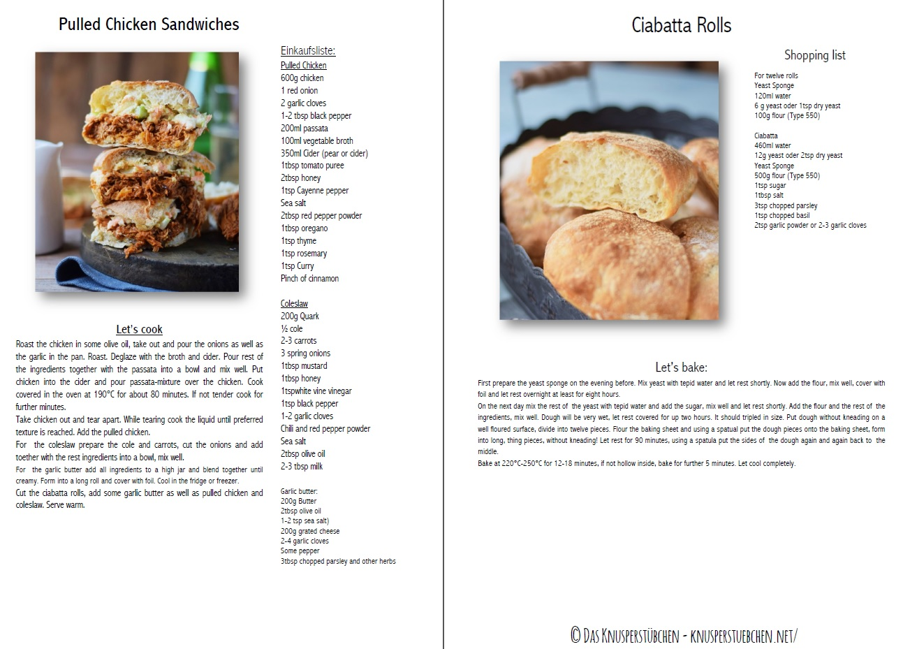 Pulled Chicken Ciabatta Sandwiches Recipe