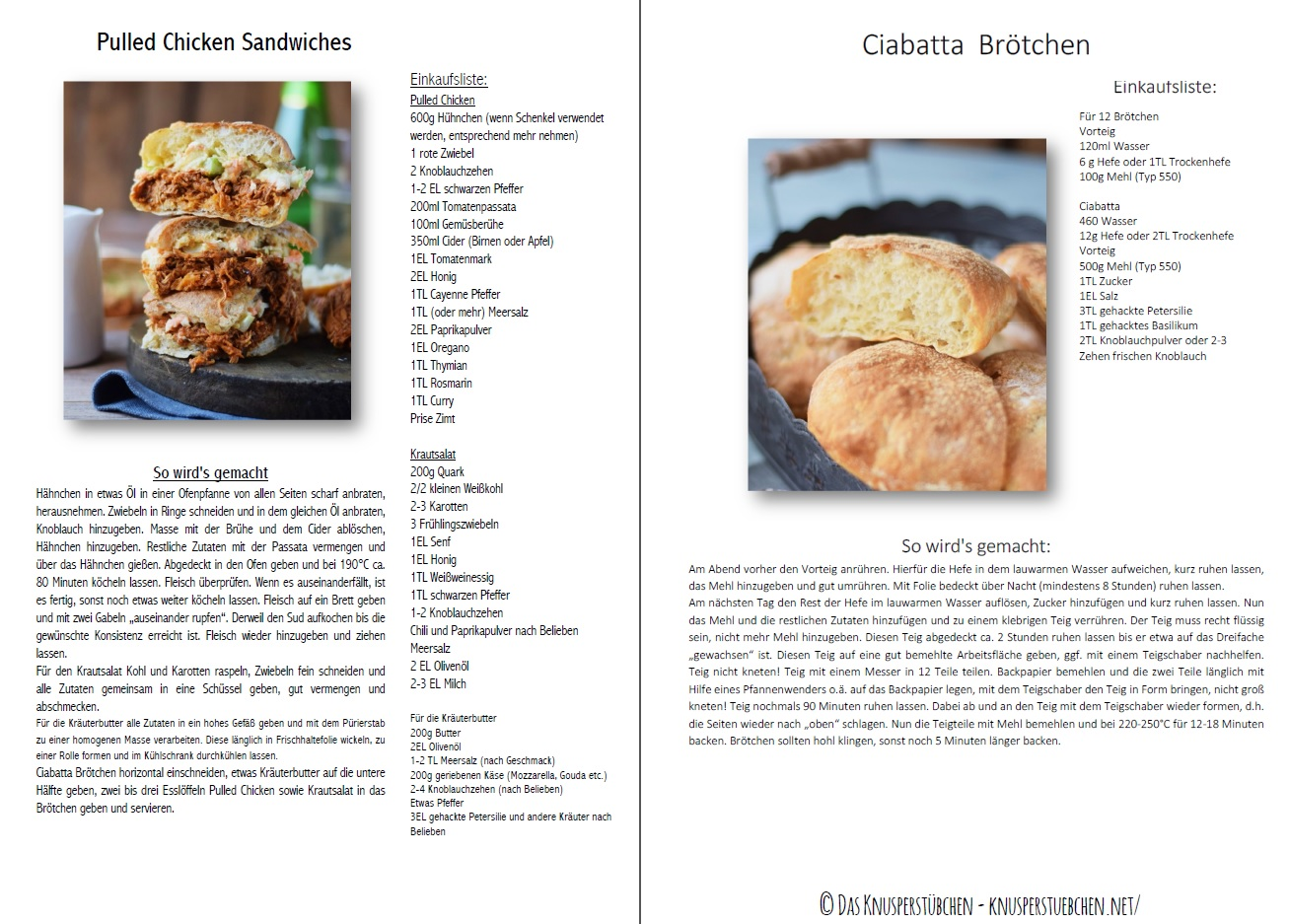 Pulled Chicken Ciabatta Sandwiches Rezept