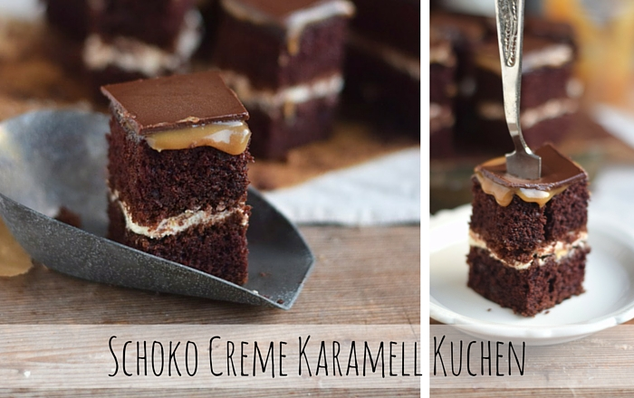 Schoko Creme Karamell Kuchen