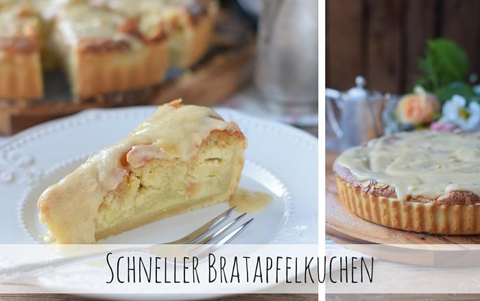 Bratapfelkuchen mit Ahornsirup-Zimtsauce – Schneller Sonntagskuchen