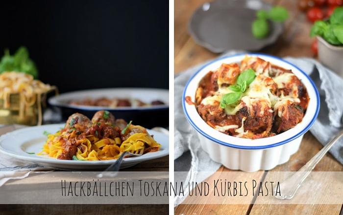 Pasta mit Kürbis und Hackbällchen Toskana