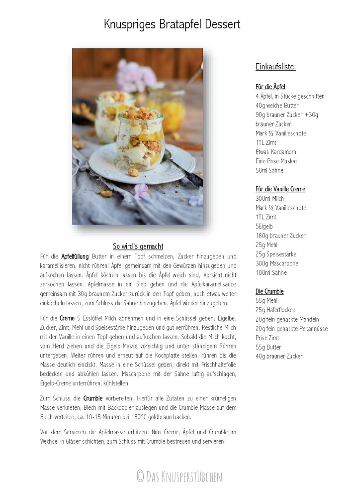 Knuspriges Apfel-Crumble-Dessert mit Mascarpone Rezept Recipe-001
