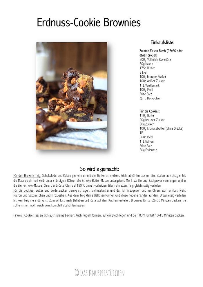 Peanutbutter Cookie Brownies Erdnussbutter Keks Schokokuchen Rezept-001