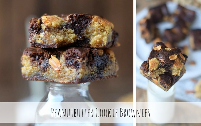 Erdnussbutter-Cookie-Brownies