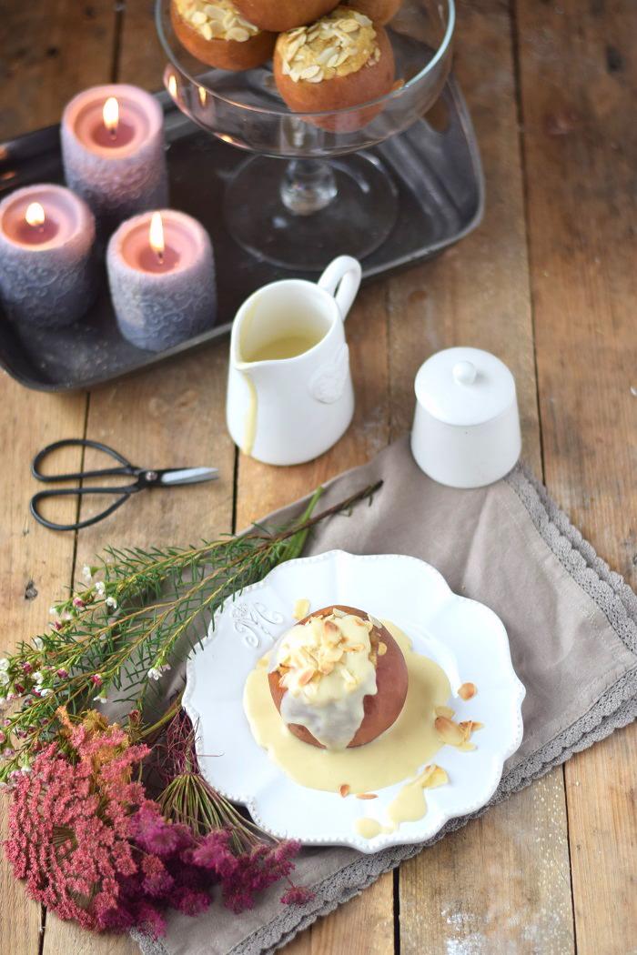 Bratapfel mit Marzipan Füllung und Marzipan Sauce - Baked Apple (13)