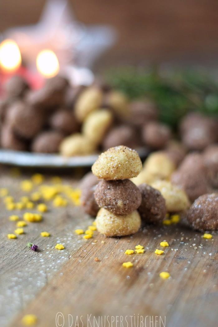 Haselnuss Zimtbällchen und Zimtschnecken Kekse Plätzchen (12)