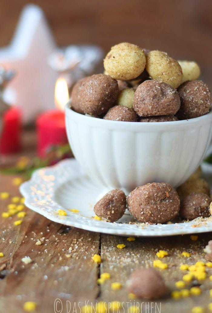 Haselnuss Zimtbällchen und Zimtschnecken Kekse Plätzchen (17)