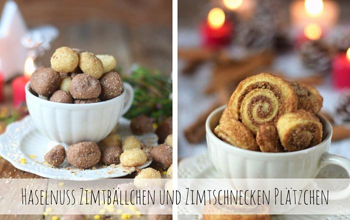 Haselnuss-Zimt-Bällchen & Zimtschnecken Cookies