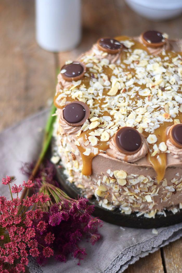 Karamell Nougat Haselnuss Toffifee Torte - Caramel Hazelnut Chocolate Cake (6)