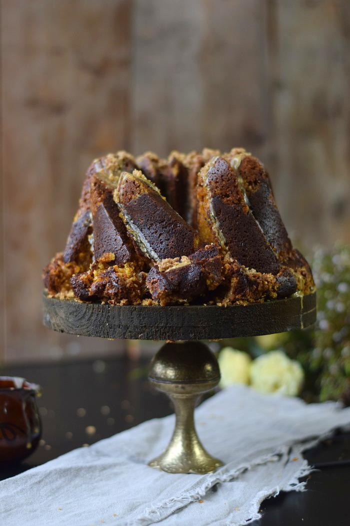 Kuerbis Crumble Gugel - Pumpkin Spice Crumble Bundt Cake (2)