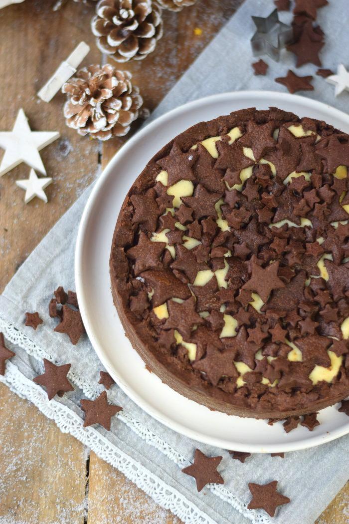 Winterlicher Weihnachtlicher Zupfkuchen mit Sternen (7)