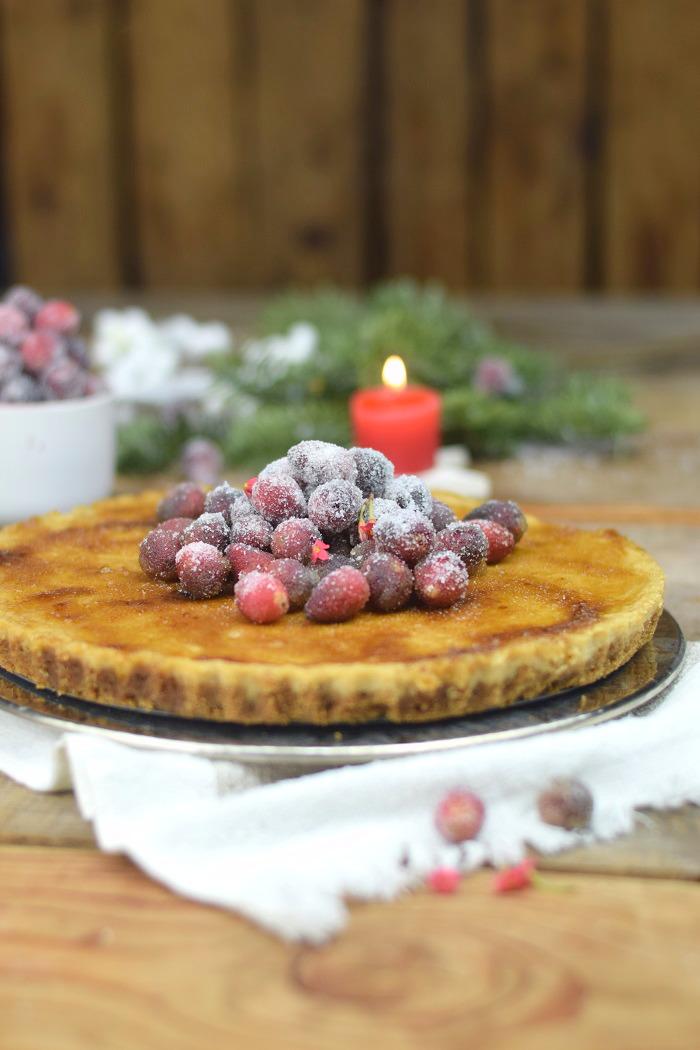 Zimt Brulee Tarte mit Honig und gezuckerten Cranberries (15)