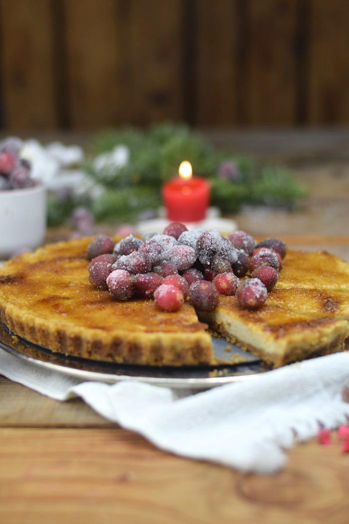 Zimt Brulee Tarte mit Honig und gezuckerten Cranberries (18)