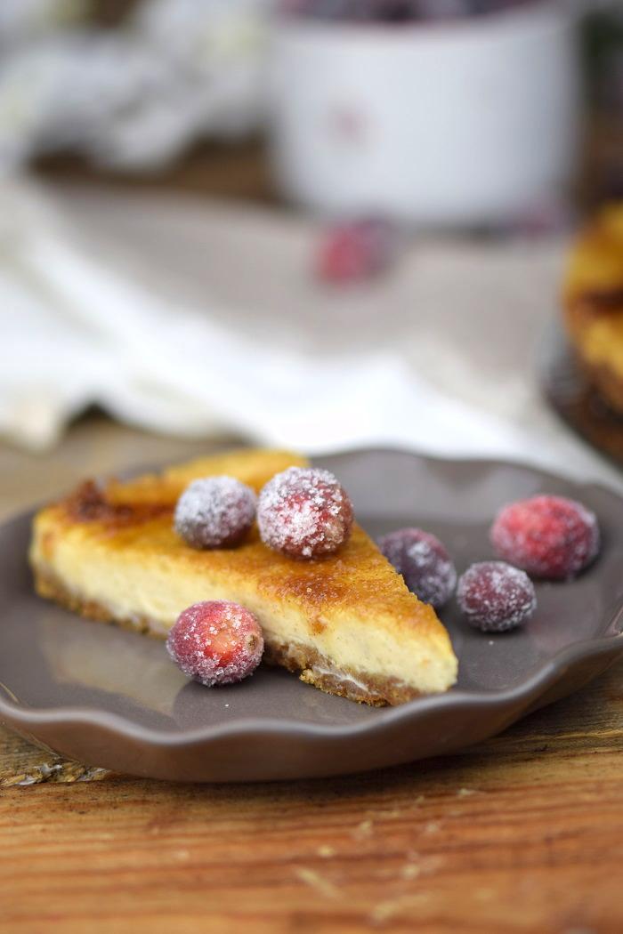 Zimt Brulee Tarte mit Honig und gezuckerten Cranberries (20)