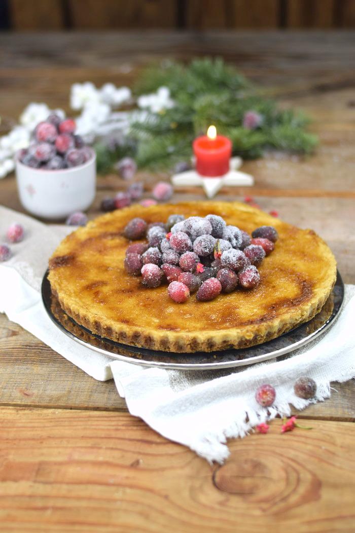 Zimt Brulee Tarte mit Honig und gezuckerten Cranberries (3)