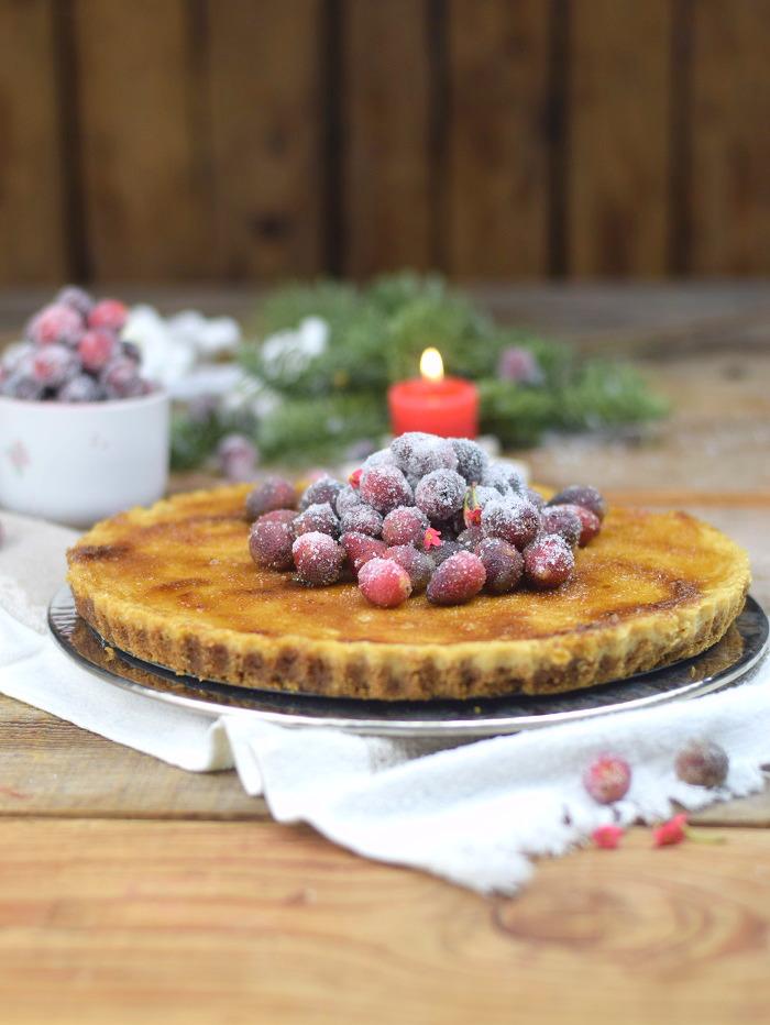 Zimt Brulee Tarte mit Honig und gezuckerten Cranberries (4)