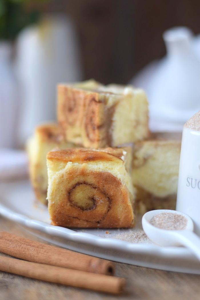 Zimtschnecken Cheesecake - Cinnamon Roll Cheesecake #cinnamonroll #cheesecake #zimtschnecken (17)