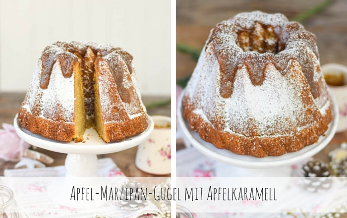 Apfel Marzipan Kuchen Mit Apfel Karamell Knusperstubchen