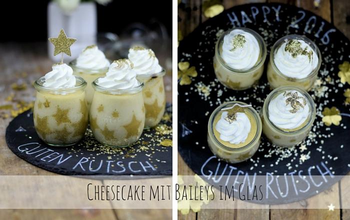 Silvester Cheesecake mit Baileys im Glas