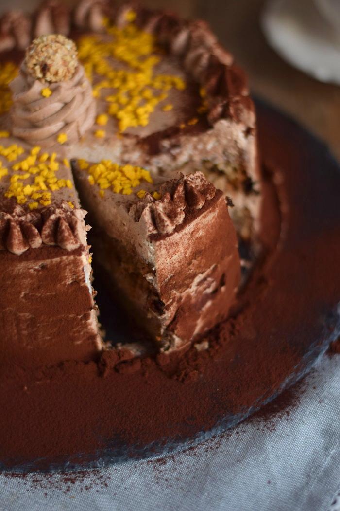 Nougat Marzipan Mousse Torte - Chocolate Marzipan Cake (17)