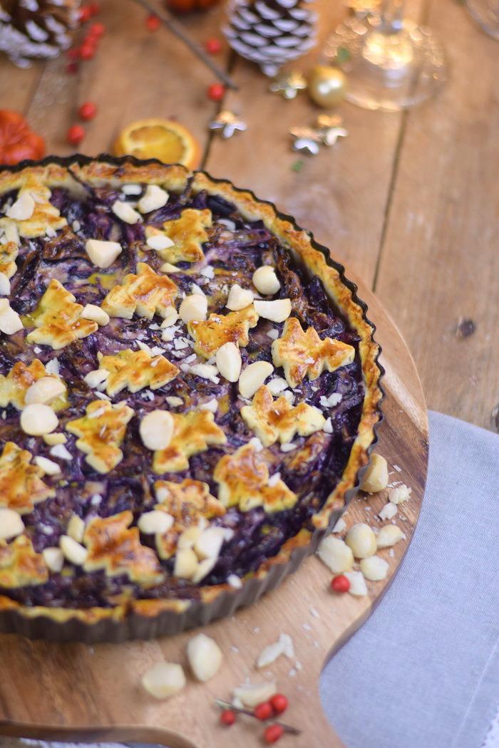 Rotkohl Tarte - Apfelrotkohl und Parmesan Thymian Plaetzchen (7)
