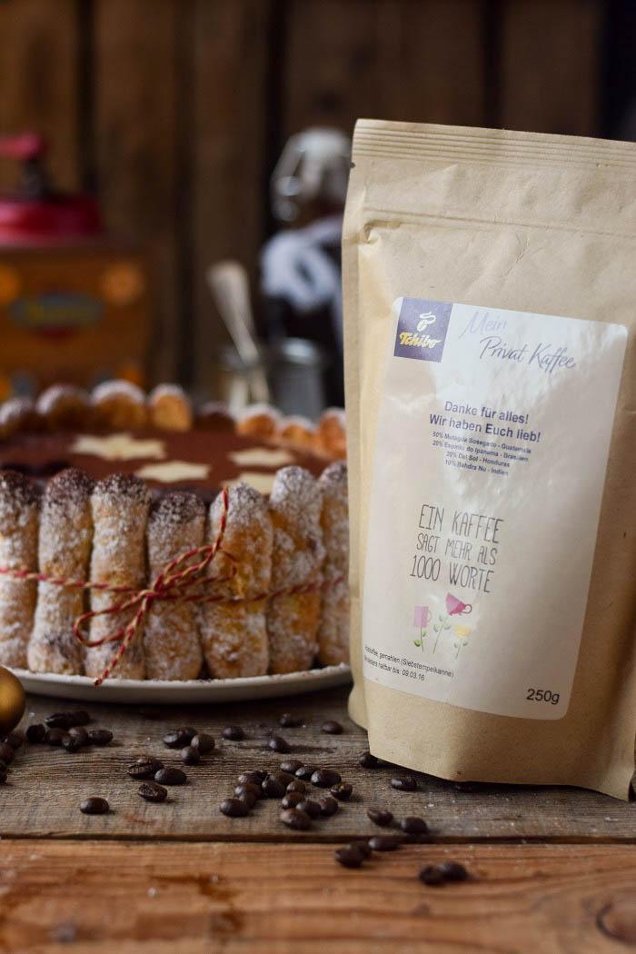Tirmaisu Cheesecake Charlotte - Kaffee Kuchen mit Löffelbiskuit und Kaffeelikör (12)