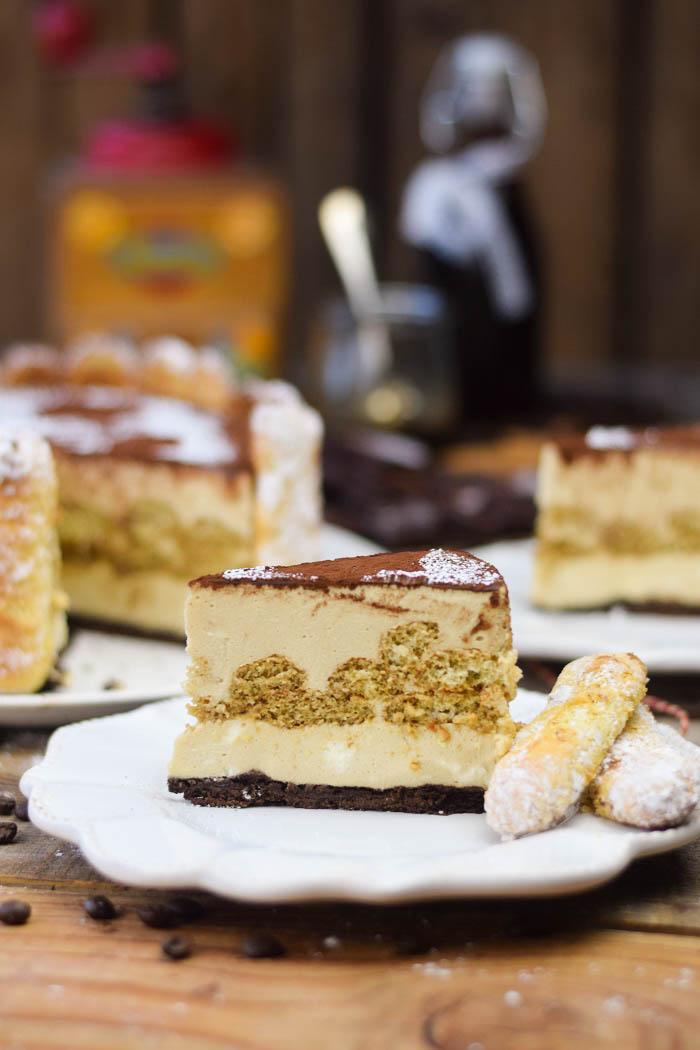 Tirmaisu Cheesecake Charlotte - Kaffee Kuchen mit Löffelbiskuit und Kaffeelikör (20)