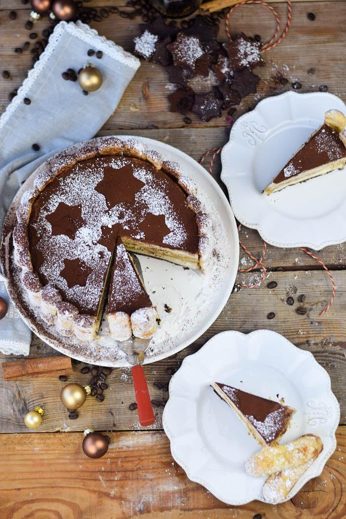 Tirmaisu Cheesecake Charlotte - Kaffee Kuchen mit Löffelbiskuit und Kaffeelikör (21)