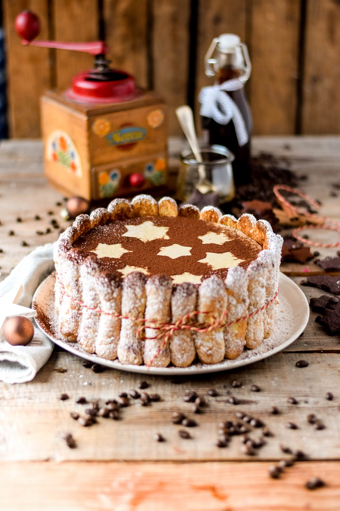 Tirmaisu Cheesecake Charlotte - Kaffee Kuchen mit Löffelbiskuit und Kaffeelikör (26)