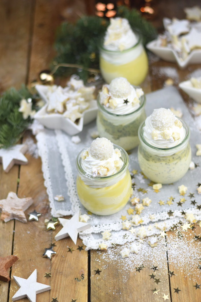 Zitronen Quark Mousse Dessert mit weisser Schokolade - Lemon Cheese Cake Mousse Dessert with white chocolate (6)