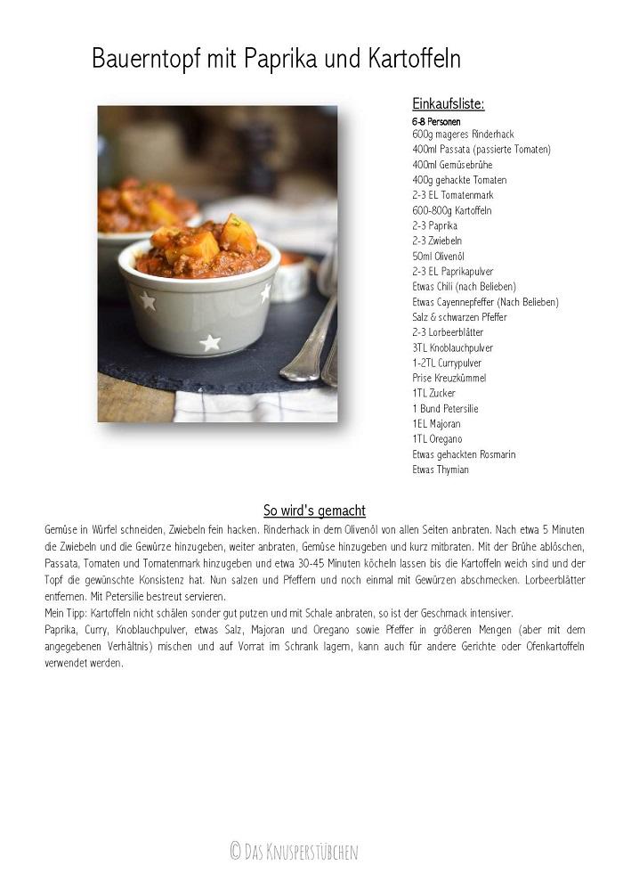 Bauerntopf - Tomaten Kartoffel Topf mit Hackfleisch - Minced Meat Tomato Stew with Potatoes Rezept-001