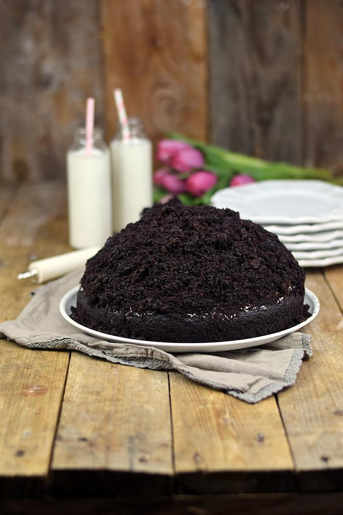 Maulwurfkuchen - Schokoladenkuchen mit Bananen und weisser Creme - Chocolate Banana Cream Cake Pie (4)