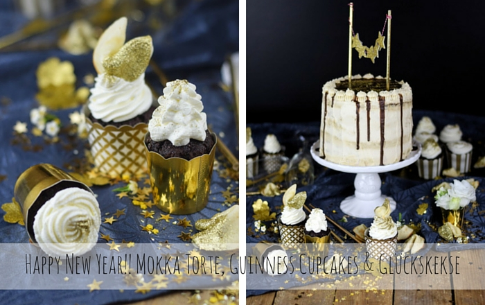 Mokka Torte, Guinness Cupcakes & Glückskekse – Happy New Year!!