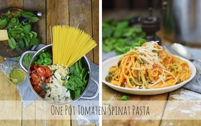 One Pot Pasta mit Spinat, Basilikum und Tomaten – Kochen leicht gemacht?