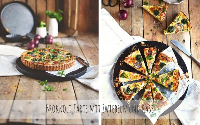 Brokkoli Tarte mit Zwiebeln und Käse: Grünes Essen ess ich doch!
