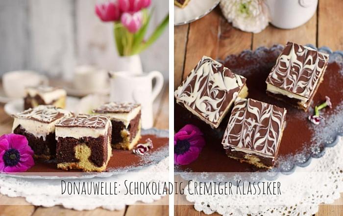 Donauwelle: Schokoladig Cremiger Klassiker mit Kirschen