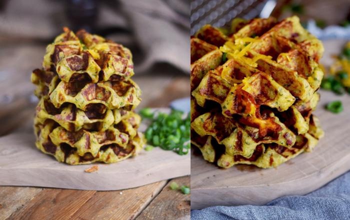 Flammkuchen-Kartoffel-Waffeln: Herzhaft gut