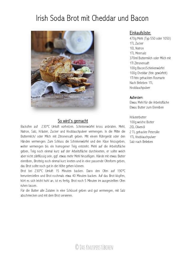 Irish Soda Brot mit Cheddar und Bacon-001
