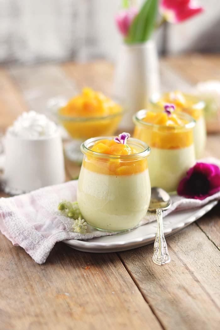 Joghurt Panna Cotta mit Lieblingssaft und Mango Salat - Yogurt Panna Cotta with Mango Salad (15)