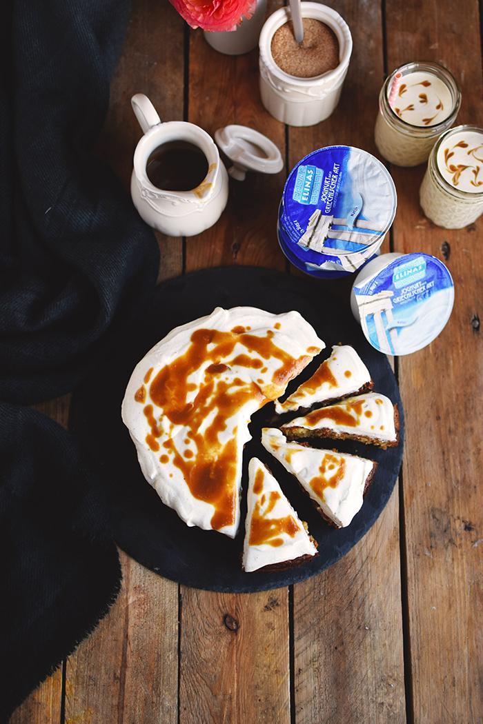 Karamell Joghurt Kuchen & Karamell Smoothie - Caramel Yogurt Cake & Caramel Smoothie (10)