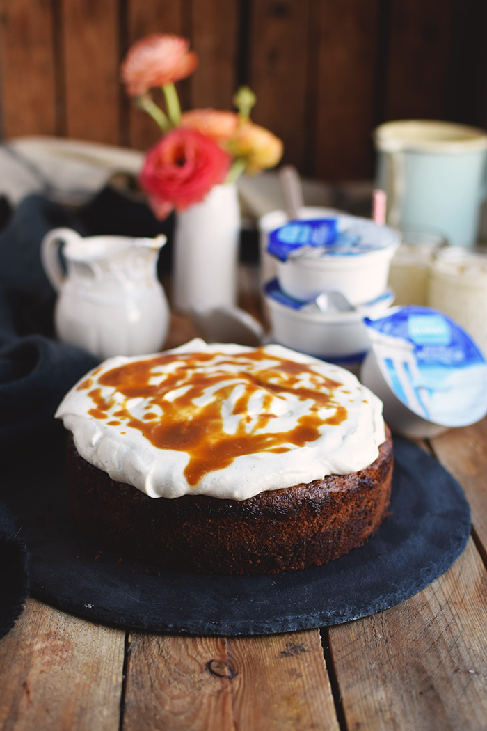 Karamell Joghurt Kuchen & Karamell Smoothie - Caramel Yogurt Cake & Caramel Smoothie (12)