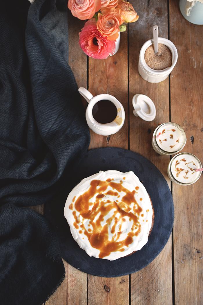 Karamell Joghurt Kuchen & Karamell Smoothie - Caramel Yogurt Cake & Caramel Smoothie (13)