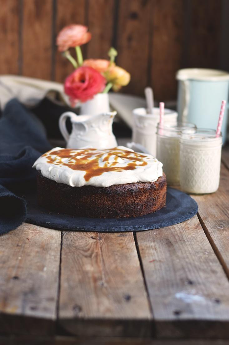 Karamell Joghurt Kuchen & Karamell Smoothie - Caramel Yogurt Cake & Caramel Smoothie (18)