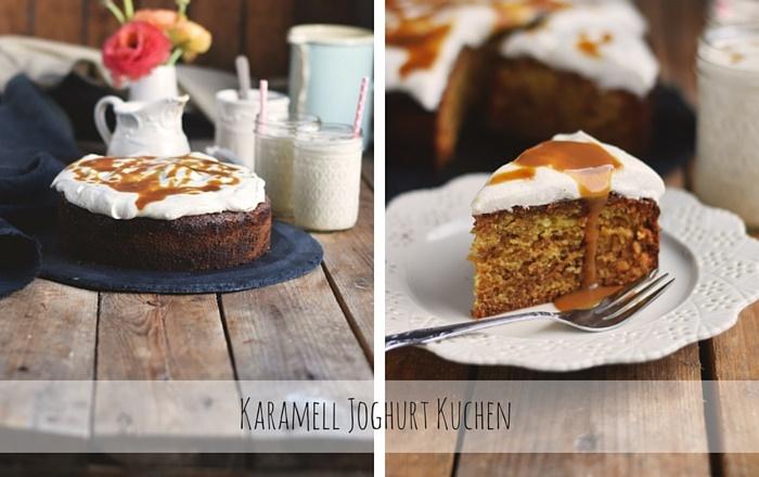 Karamell Joghurt Kuchen & Joghurt Smoothie: Cremig lecker (Werbung)