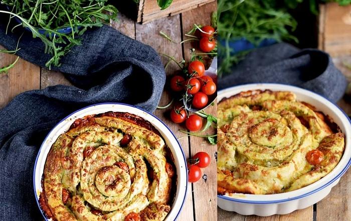 Pizza Pinwheel Tomate Mozzarella: #Glitzerstübchen