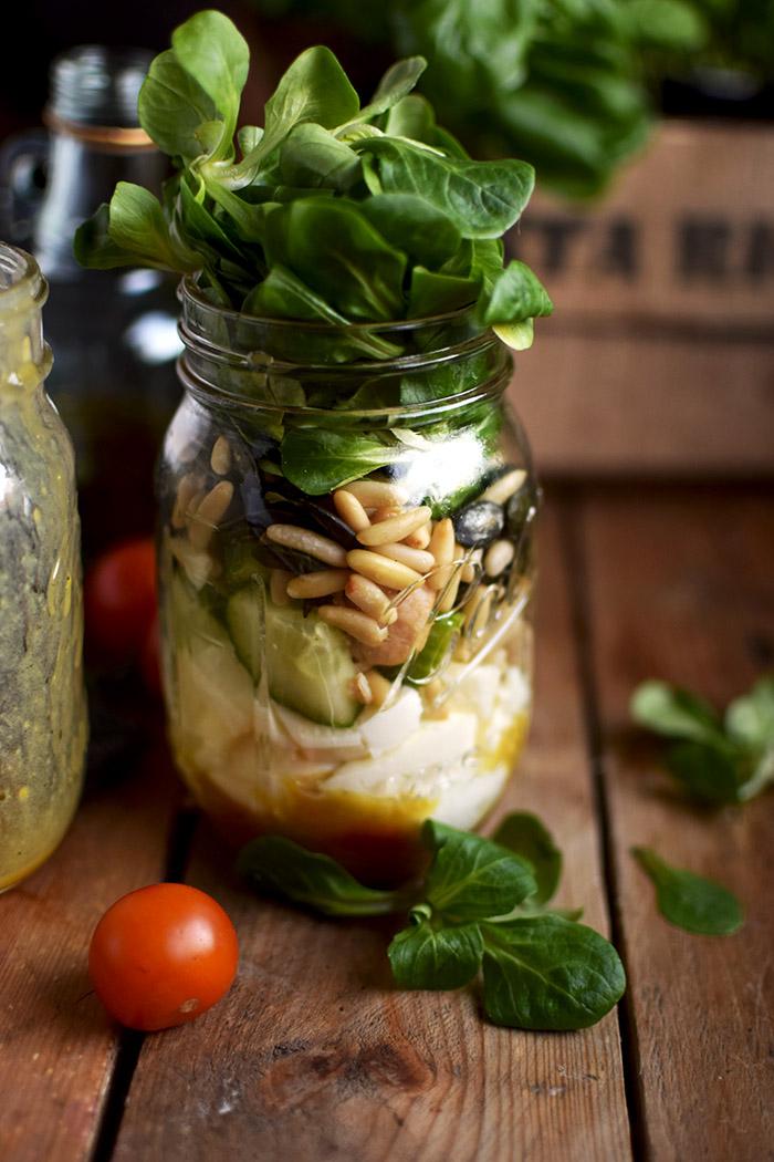 honig senf salat im glas honey mustard salad in a jar honey mustard dressing das. Black Bedroom Furniture Sets. Home Design Ideas