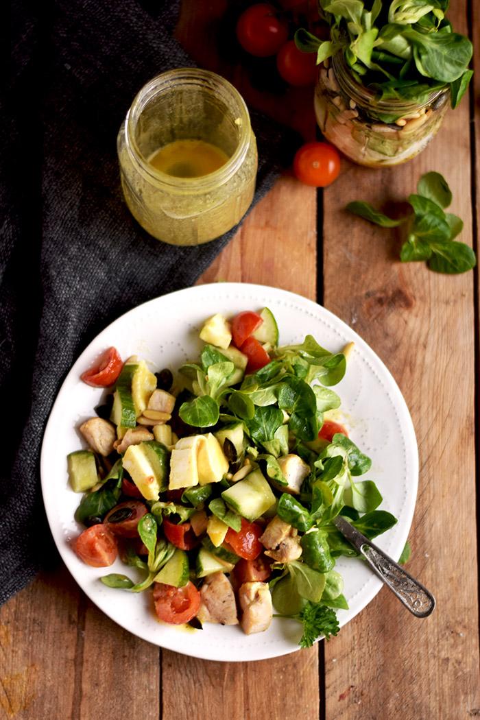 Honig Senf Salat im Glas - Honey Mustard Salad in a jar - Honey Mustard Dressing (9)