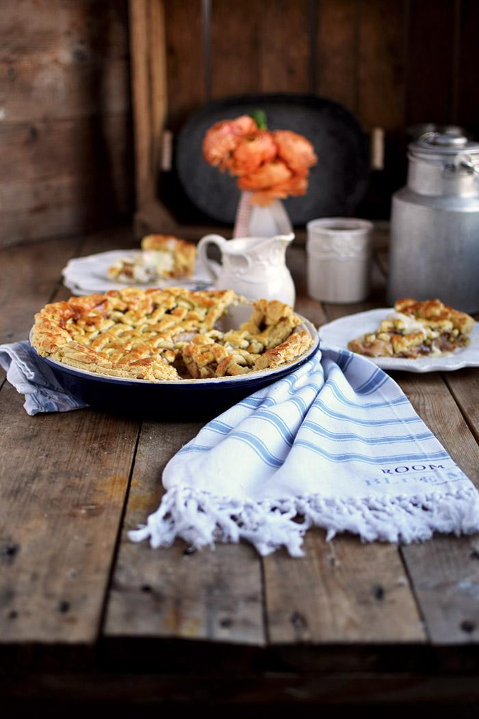 Lattice Apple Pie - Apfelkuchen mit knuspriger Gitter Decke (13)
