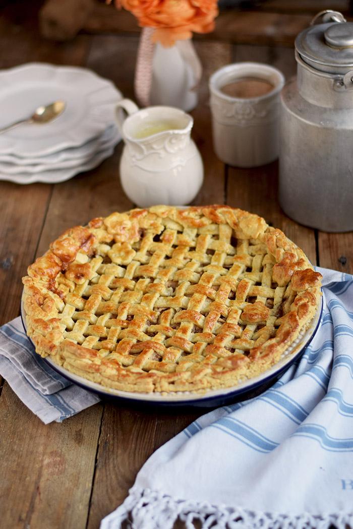 Lattice Apple Pie - Apfelkuchen mit knuspriger Gitter Decke (3)